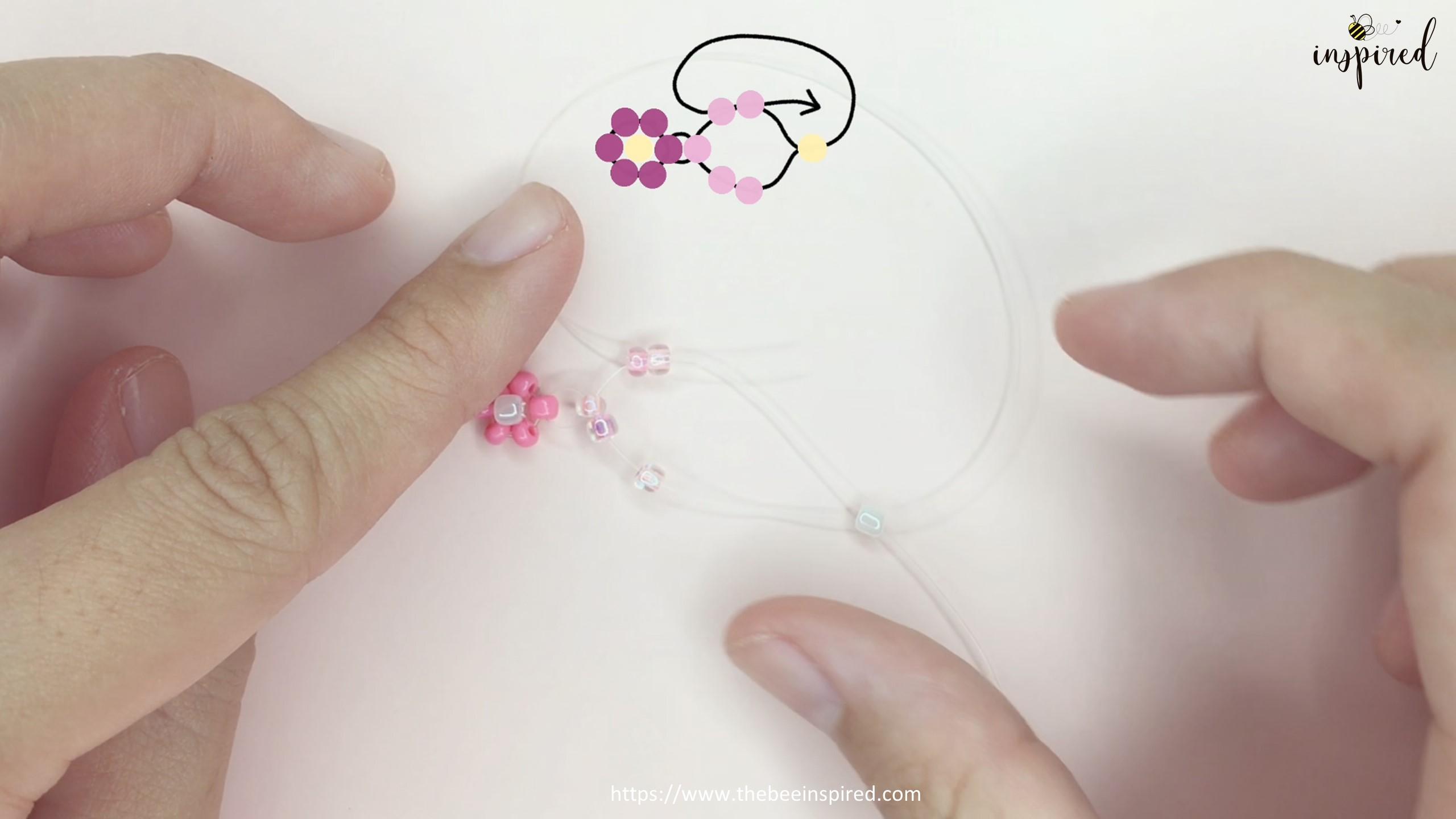 How to Make Daisy Flower Beaded Ring_14