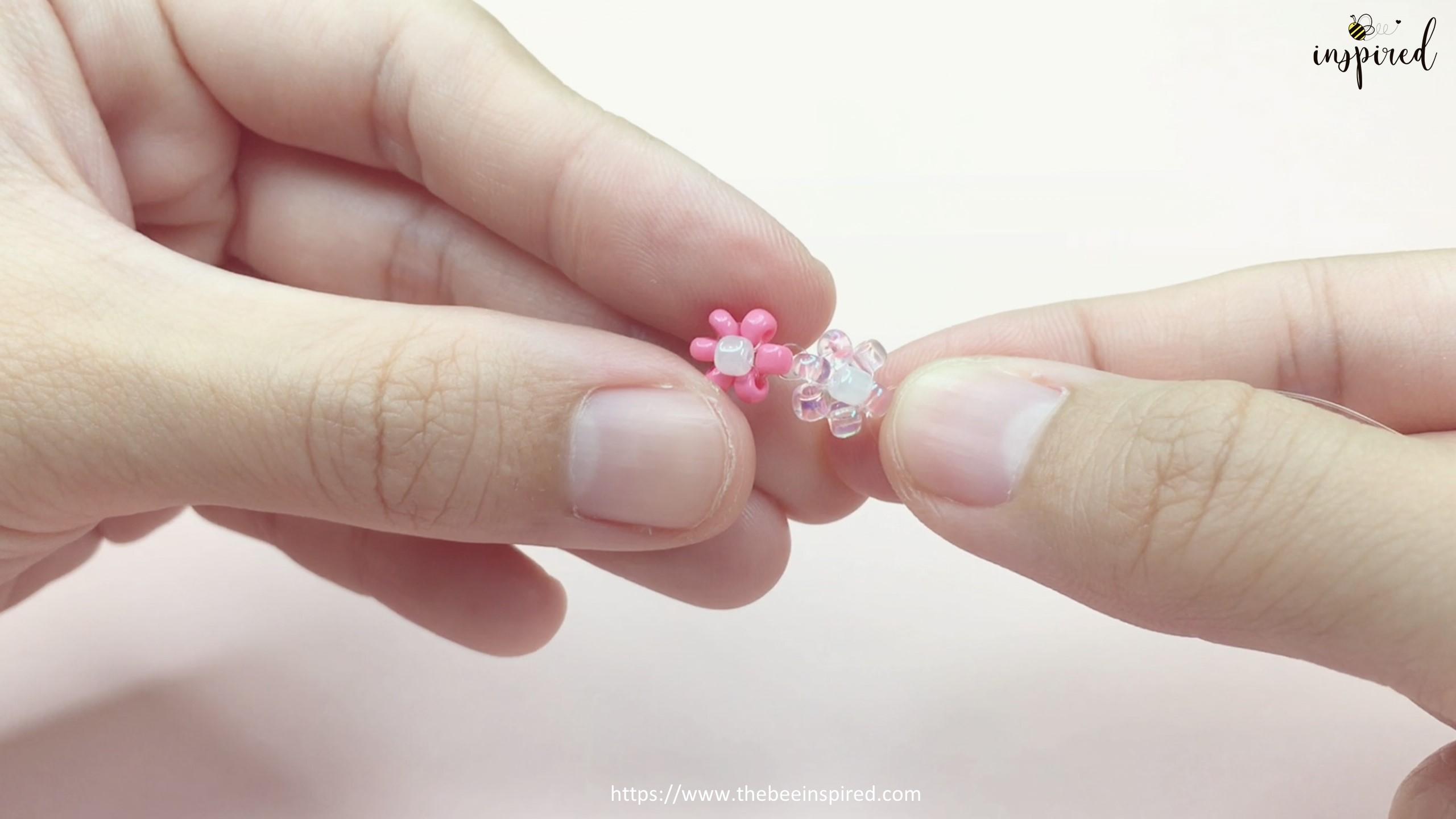 How to Make Daisy Flower Beaded Ring_18