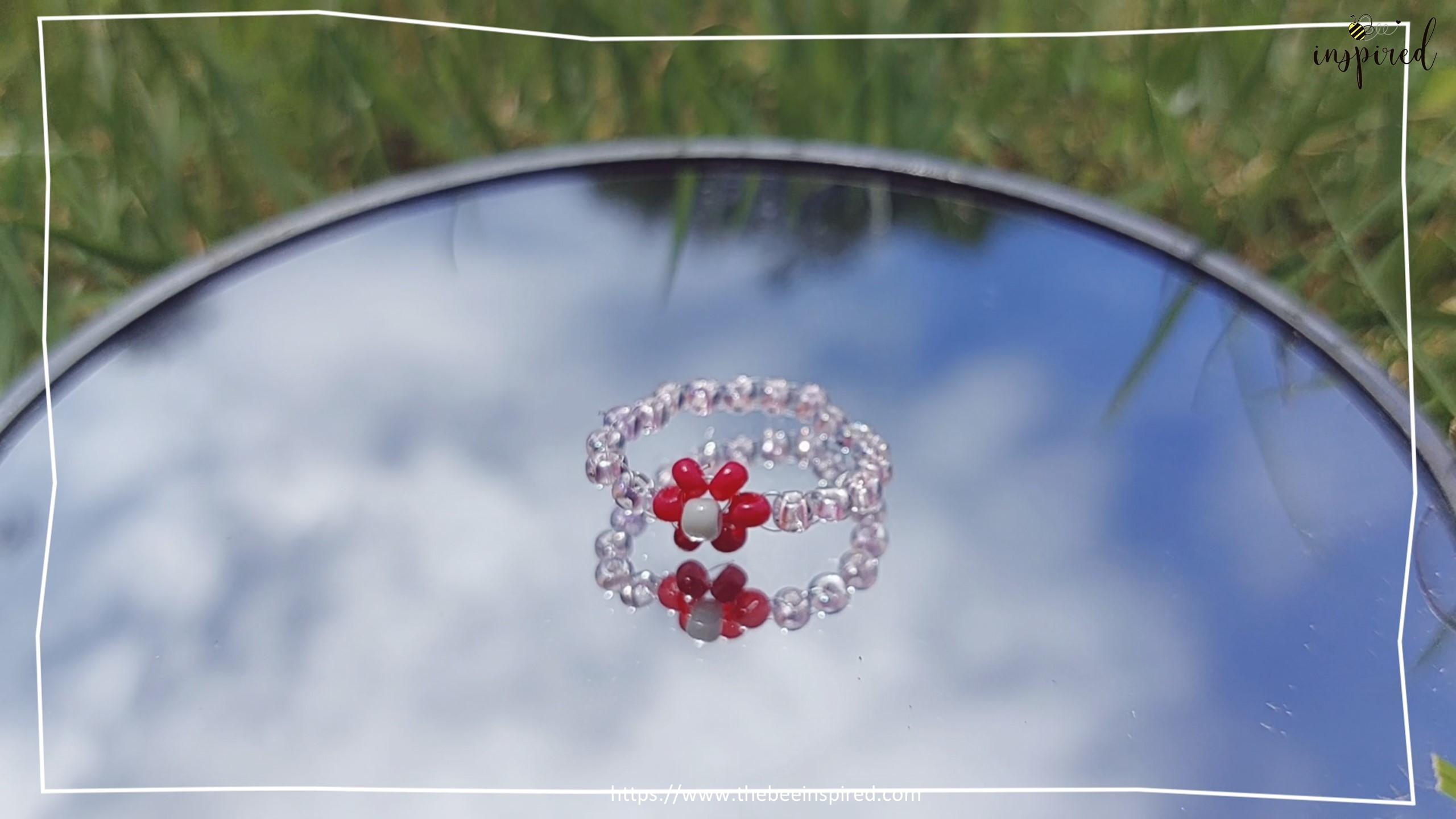 How to Make Daisy Flower Beaded Ring_24