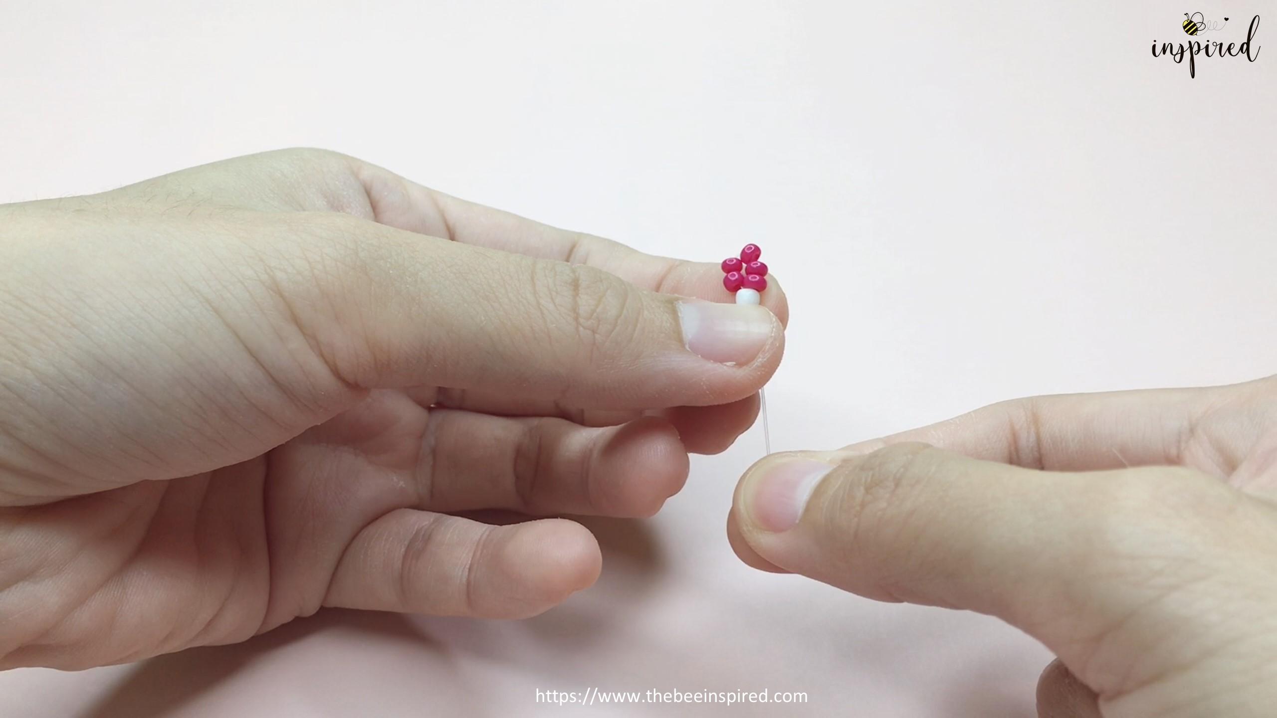How to Make Daisy Flower Beaded Ring_5