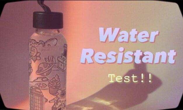 Water Resistant Test with Clear Transparent Sticker: สติ๊กเกอร์จากเทปใสจะโดนน้ำได้ไหมนะ💦 มาดูกัน!!