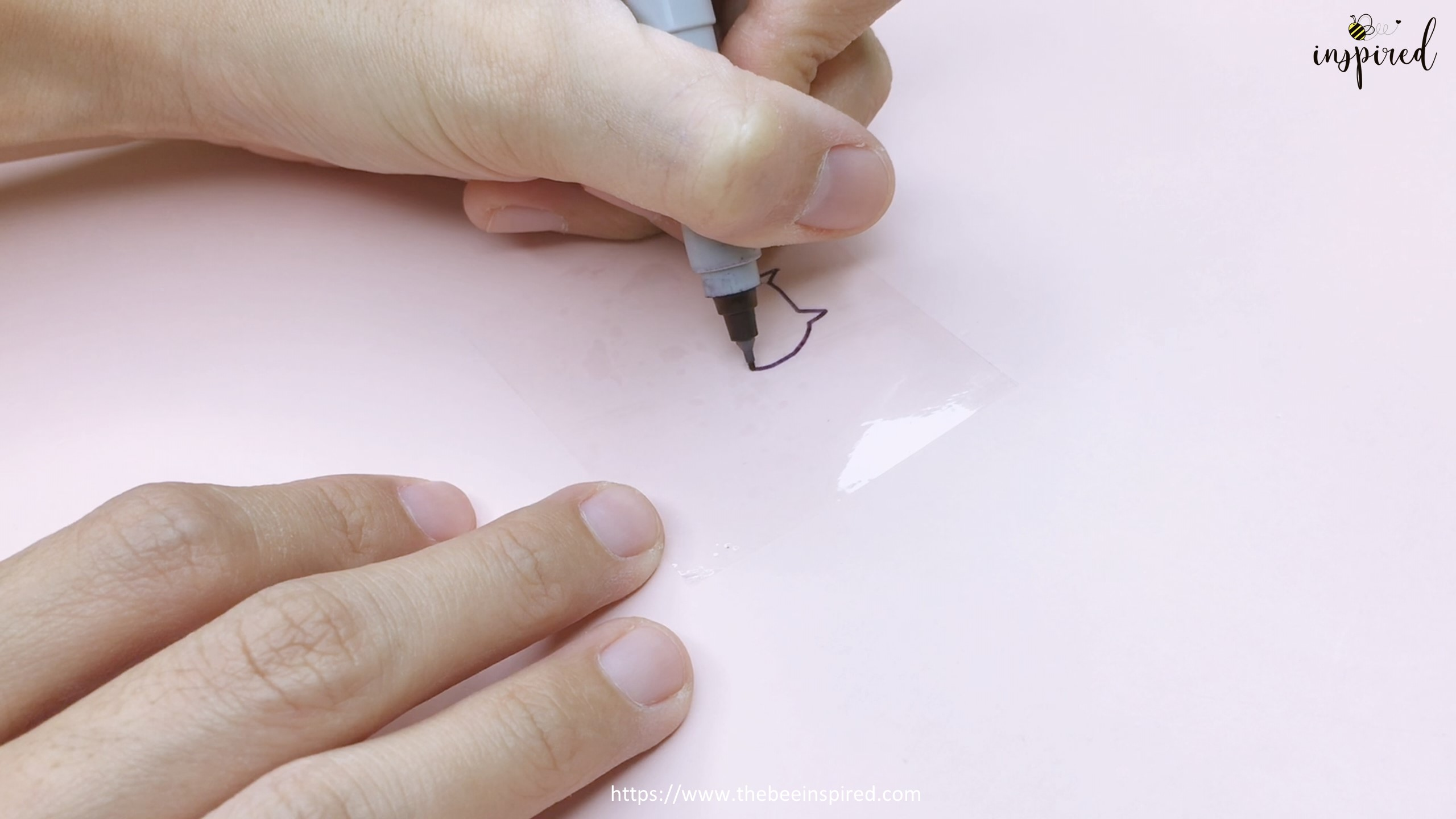 How to Make Clear Sticker from My Drawing with Packaging Tape_13