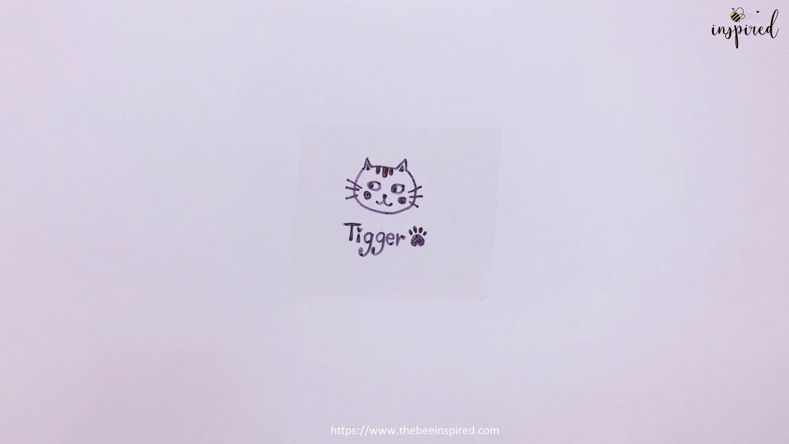 How to Make Clear Sticker from My Drawing with Packaging Tape_14