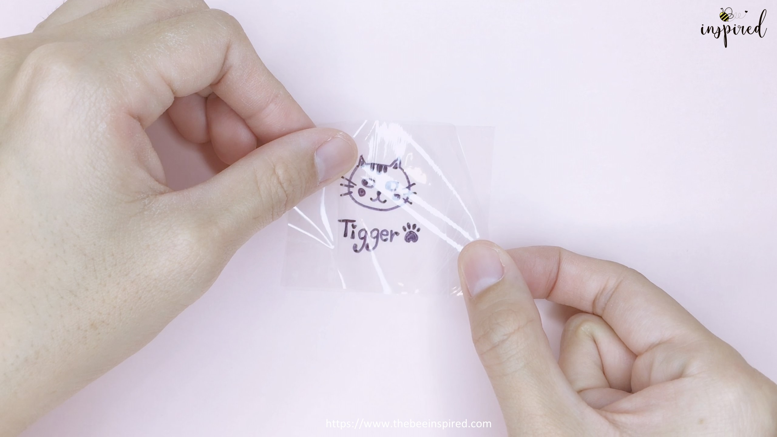 How to Make Clear Sticker from My Drawing with Packaging Tape_15