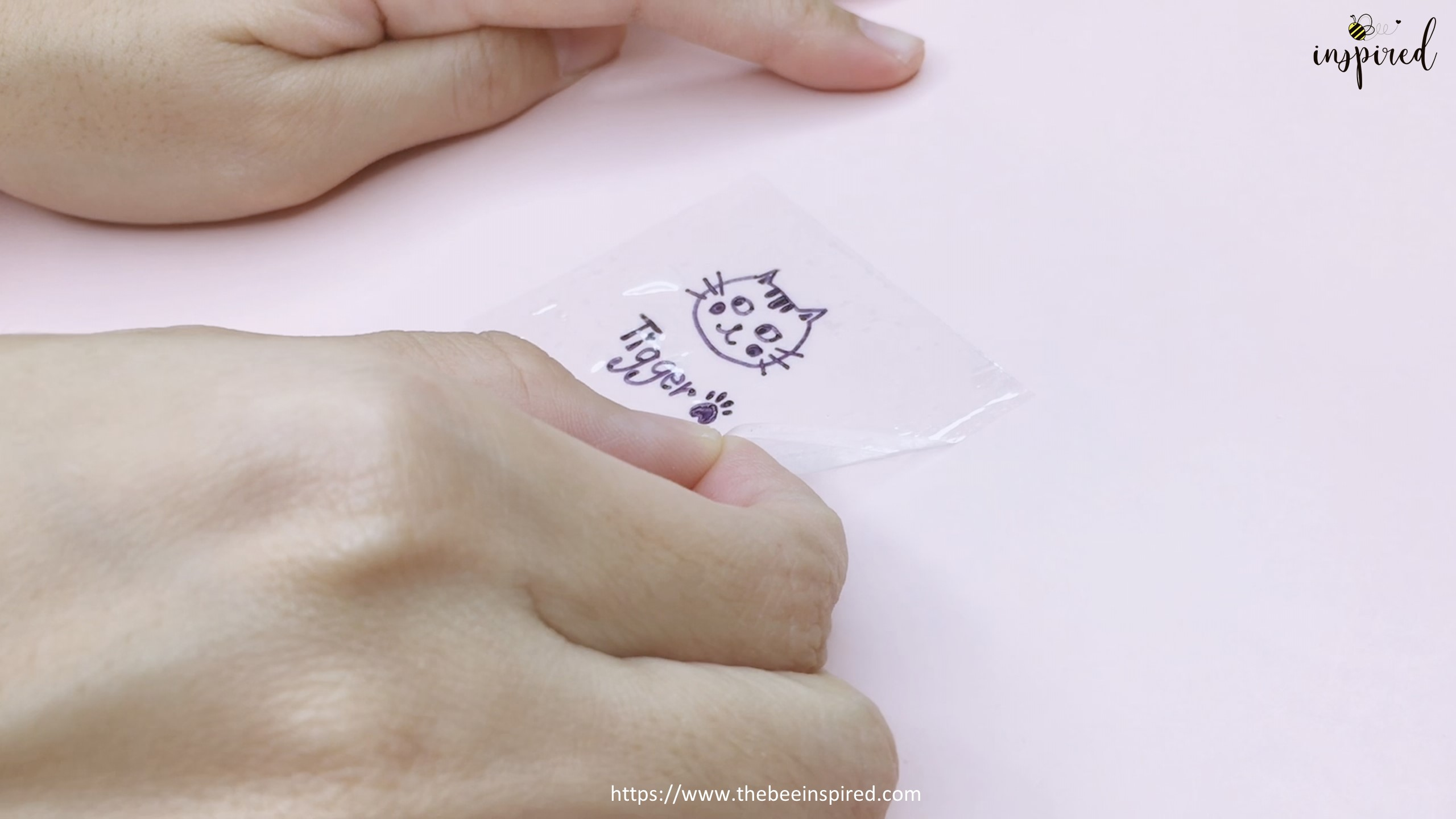 How to Make Clear Sticker from My Drawing with Packaging Tape_16