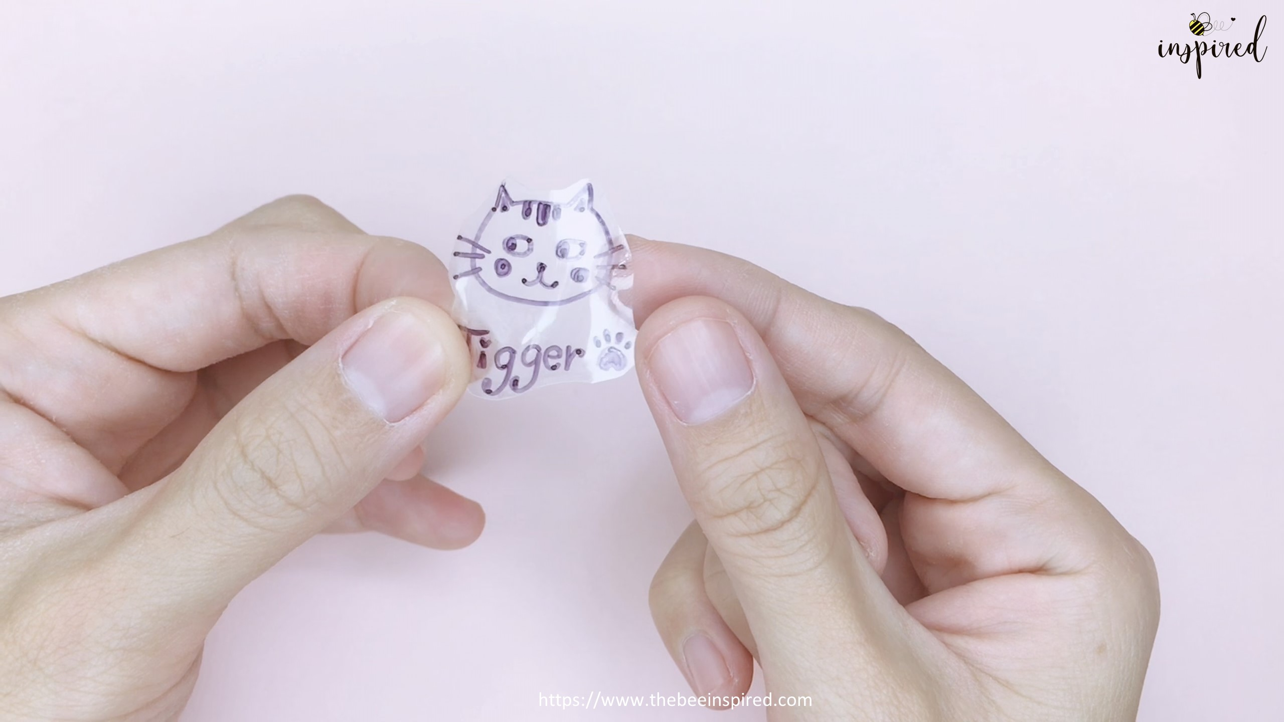 How to Make Clear Sticker from My Drawing with Packaging Tape_18
