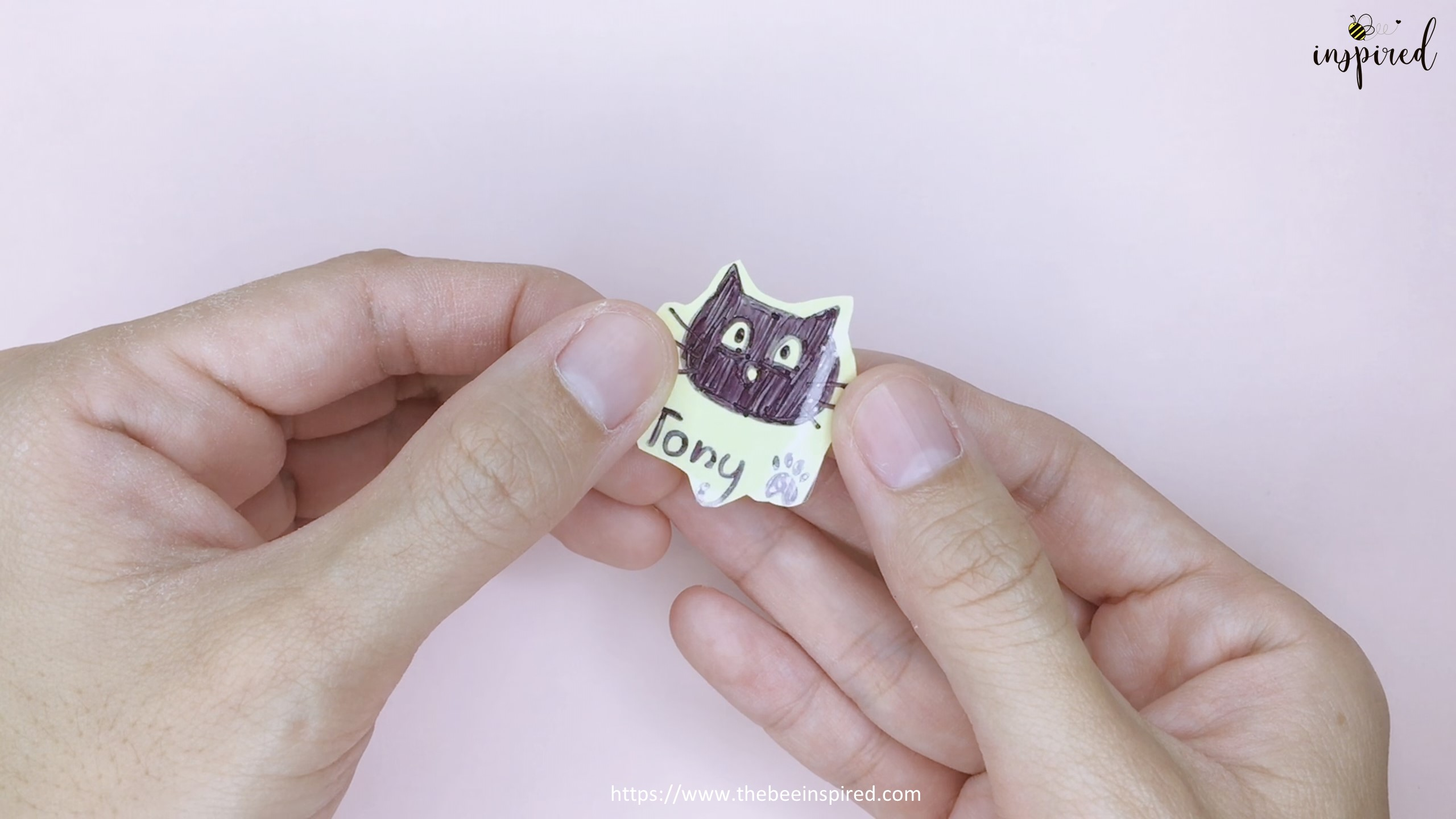 How to Make Clear Sticker from My Drawing with Packaging Tape_7