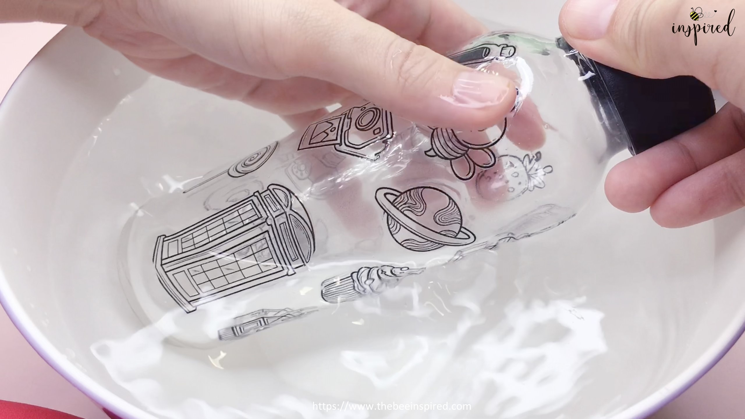Water Resistant Test with ClearTransparent Sticker from Clear Packaging Tape_6